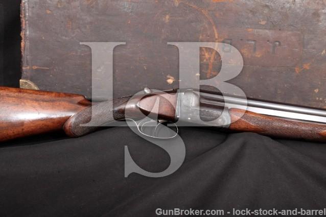 Westley Richards Ovundo, Blue 28″ Boxlock O/U C&R Over-Under Double Shotgun & Case, 1913-1937 12 GA.