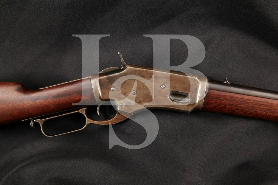 """Whitney Arms Whitney-Kennedy Small Frame Saddle Ring Carbine, Loop Lever Model, Blue 20"""" Lever Action Tube Fed Rifle, MFD 1880-86 Antique"""