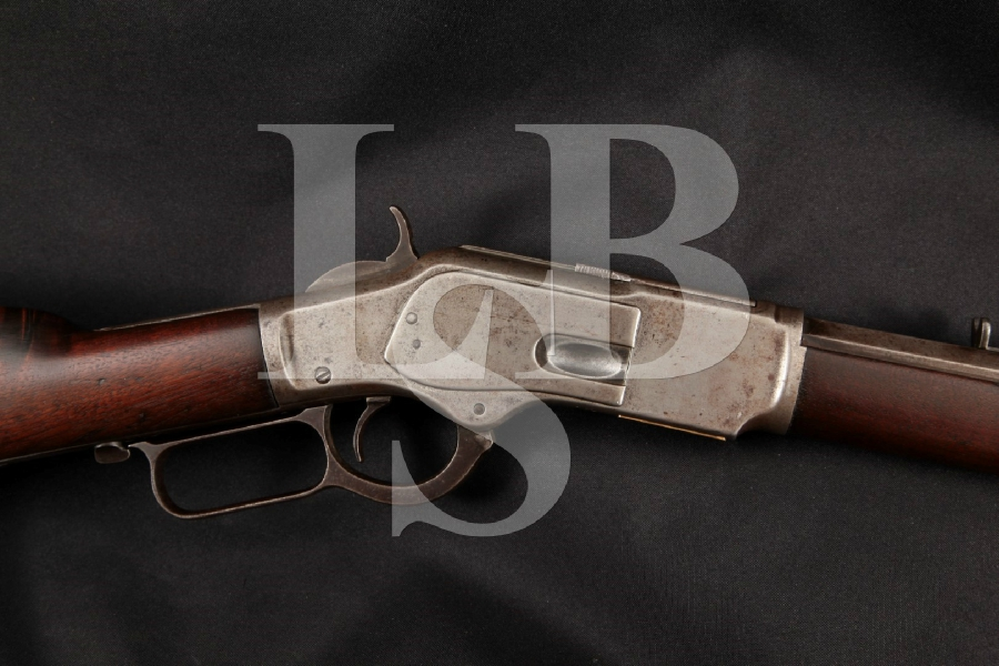 """Winchester 1873 3rd Model, Blue & Case Colored Octagonal 24 ¼"""" Lever Action Tube Fed Rifle, MFD 1888 Antique"""