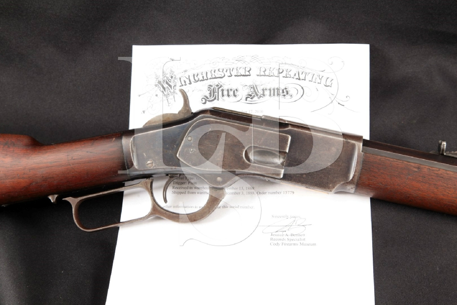 "Winchester 1873 3rd Model, Blue Octagonal 24 ¼"" Lever Action Rifle & Paperwork MFD 1888, Antique"