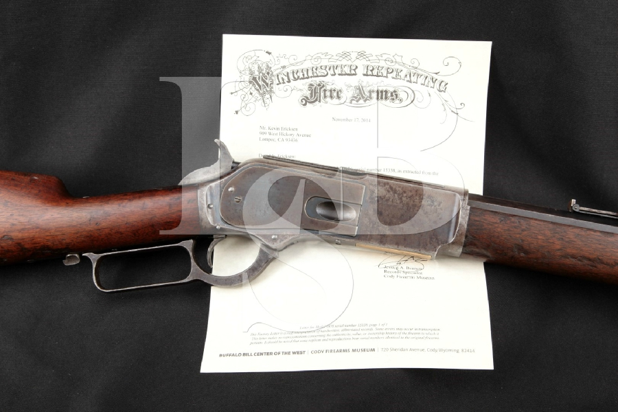 "Winchester 1876 Second Model Lever Action Rifle, Blue / Case 28"" Lever Action, Tube Fed Rifle, MFD 1881 Antique"