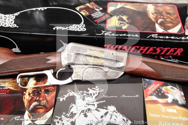 Winchester 1895 Teddy Roosevelt 150th High Grade Commemorative Lever Action Rifle & Box 2008 .405