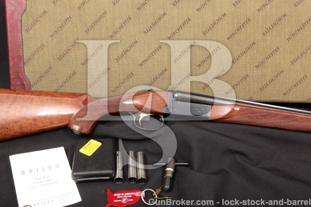 Winchester 23LD 23 Light Duck 1 of 500 1985 20 GA 28″ Briley Choke SXS Double Barrel Shotgun & Case