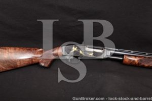 "Winchester 42 Angelo Bee Engraved & Gold Inlay C&R Pigeon Grade Style 28"" Pump Shotgun MFD 1947 .410"