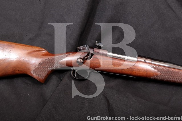 Winchester 70 Pre-1964 Blue 23″ .375 H&H Magnum Bolt Action Rifle & Muzzle Brake, MFD 1959 C&R