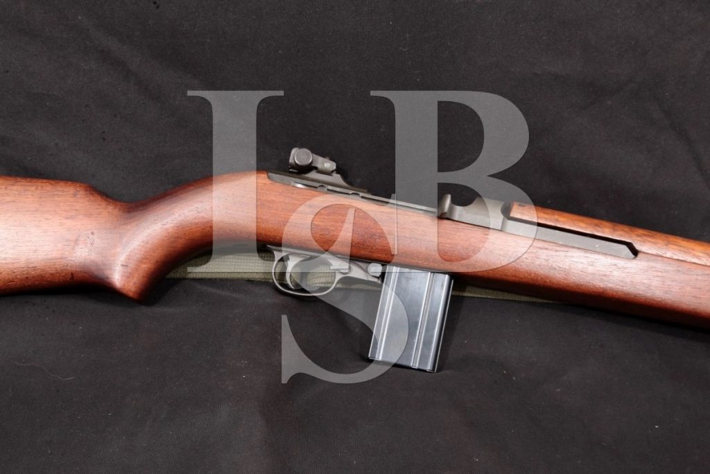 Winchester M1 Carbine, Sling, Non-Import, Parkerized 18 Military Semi Automatic Rifle MFD 1945 C&R .30 Carbine