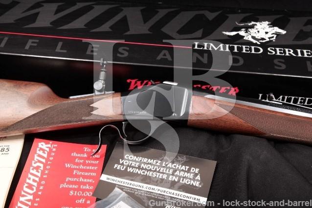 Winchester Miroku 1885 Davidsons Limited Edition Blue 28″ Single Shot Rifle & Box, 2009 .405 Win.