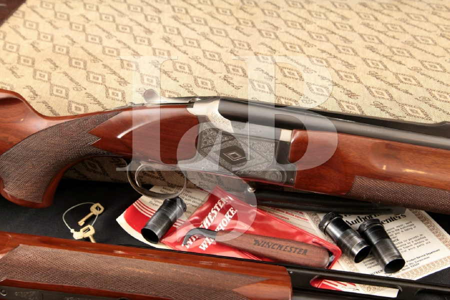 Winchester Model 101 (Olin Kodensha) Diamond Grade Trap Combo, Blue & Satin 32 & 34 Over / Under Shotgun, Chokes, Case & More