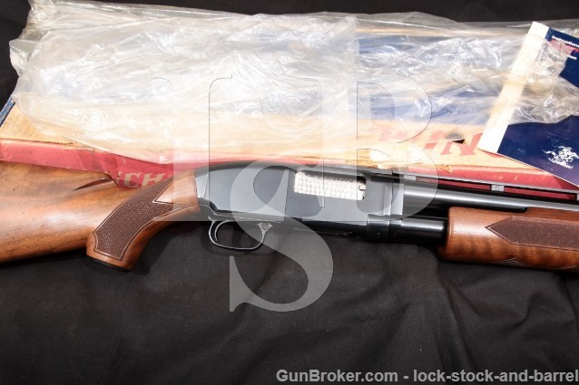Winchester Model 12 1912 Trap, Blue 30″ 12 Gauge Vent-Rib Pump Action Takedown Shotgun & Box, 1974