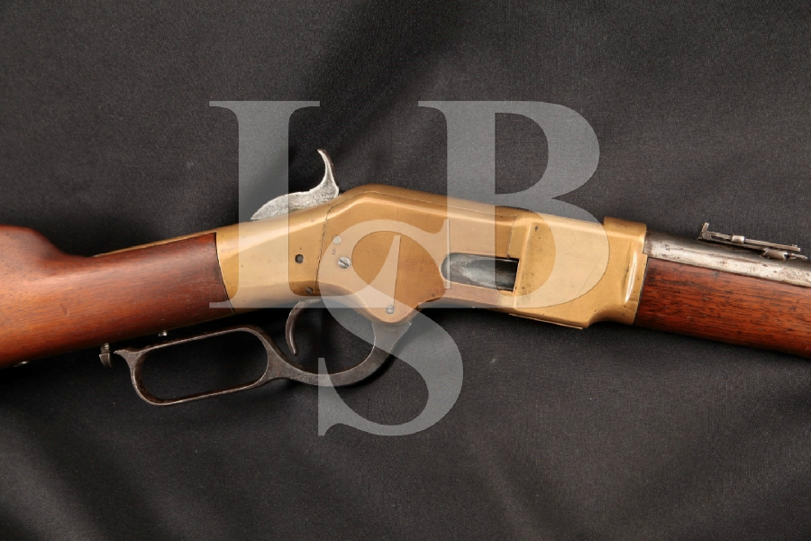 "Winchester Model 1866 ""Yellow Boy"" Third Model Carbine, Blue & Brass 20"" Lever Action, Tube Fed Rifle, MFD 1869 Antique"
