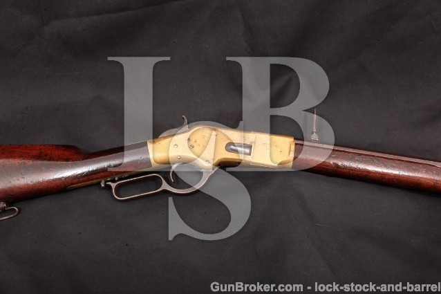 Winchester Model 1866 2nd Model Octagonal Rifle 24 1/4″ Lever Action Rifle, '66, MFD 1869, Antique