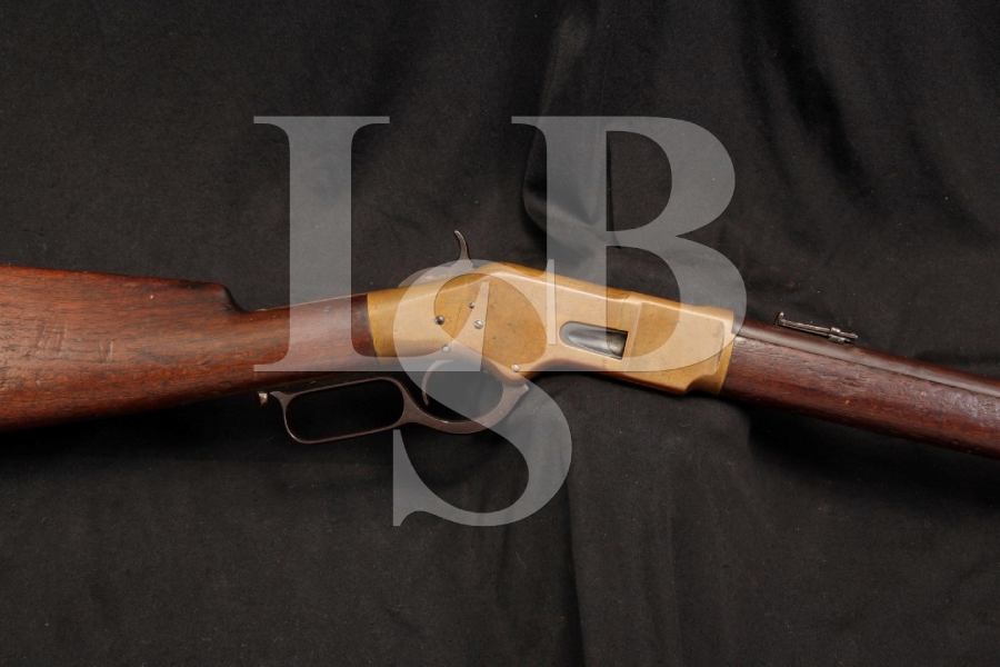 Winchester Model 1866 66 4th Model .44 Henry Rimfire Lever Action Rifle, Saddle Ring Carbine S.R.C. SRC – Antique