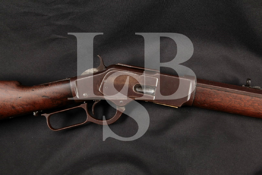 "Winchester Model 1873 3rd Model, Blue Octagonal 24"" Lever Action Rifle & 4pc. Rod, MFD 1884 Antique"