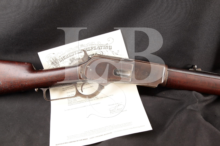 Winchester Model 1876 3rd Model, Blue Round 28 INCH .45 60 Lever Action Rifle, MFD 1882 Antique