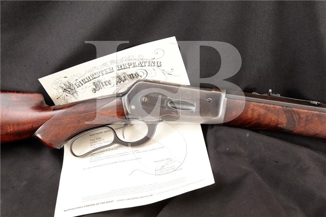 """Winchester Model 1886 Deluxe Fancy Wood .45-70 Gov Set Trigger, Octagon 26"""" Lever Action Rifle, 1888"""