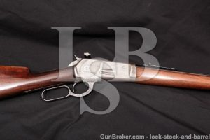 Winchester Model 1886 Takedown, .33 WCF, MFD 1920 Blue & Case Color Lever Action Rifle & Lyman Sight
