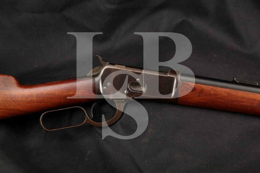 "Winchester Model 1892, NICE, Blue 24"" Lever Action, Full-Length Tube Rifle, MFD 1907 C&R"