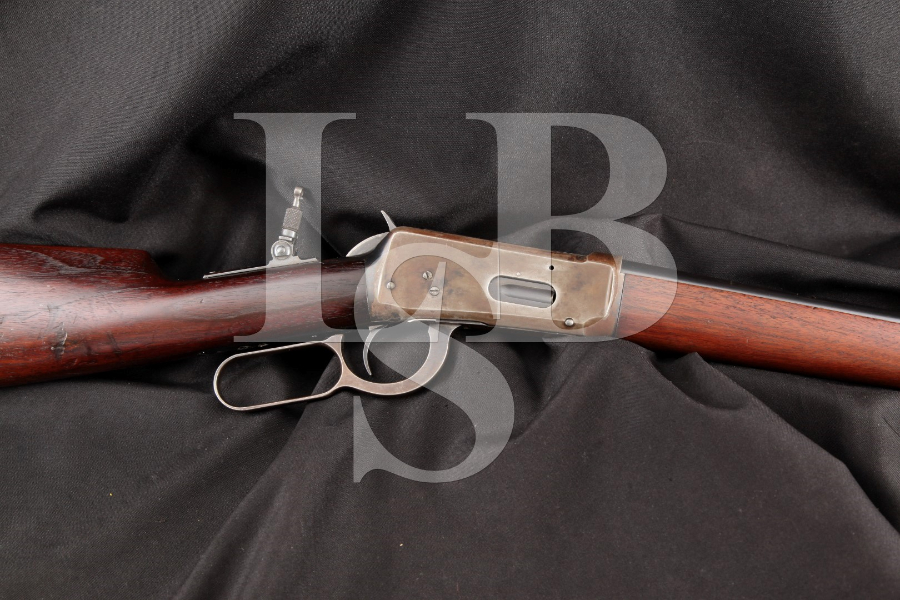 Winchester Model 1894 Saddle Ring Carbine, 2/3 Mag. Blue 20 INCH Lever Action Saddle Ring Carbine SRC Rifle, MFD 1919 C&R .25-35 Win.