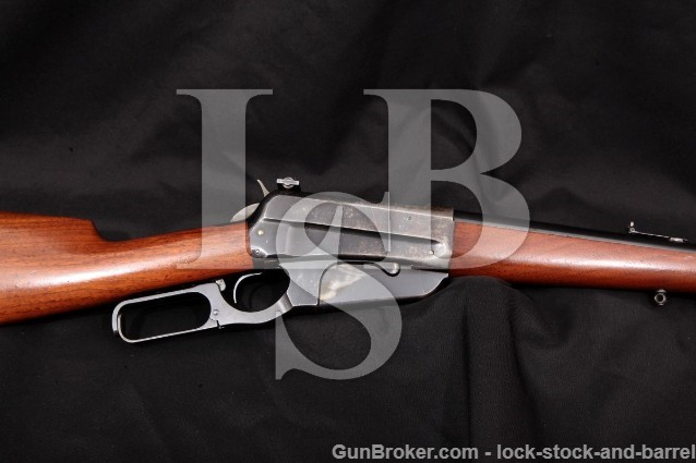 """Winchester Model 1895 95 Sporting Rifle 1915 C&R Blue 24"""" Lever Action & Lyman Sight .405 Win."""