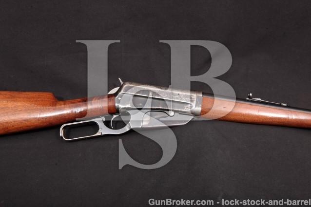 "Winchester Model 1895 95 Takedown, 1914 C&R .30-03 Blue 24"" Box Magazine Lever Action Rifle & Photos"