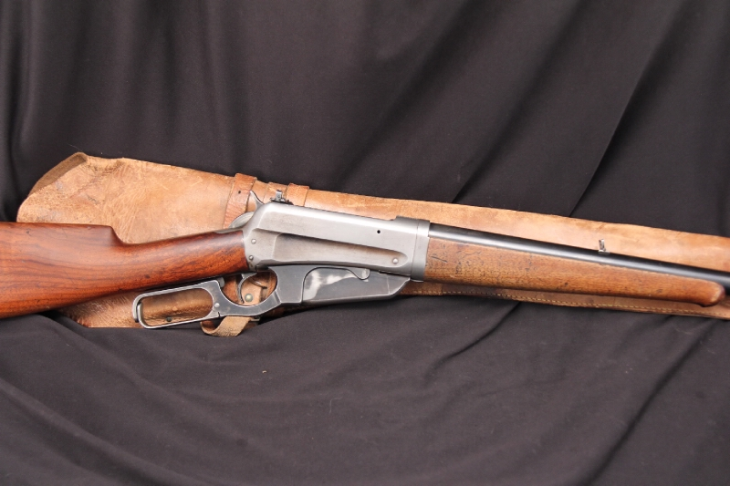 Winchester Model 1895 Takedown -- .30-06 Lever Action Rifle & Scabbard - 1915 C&R OK