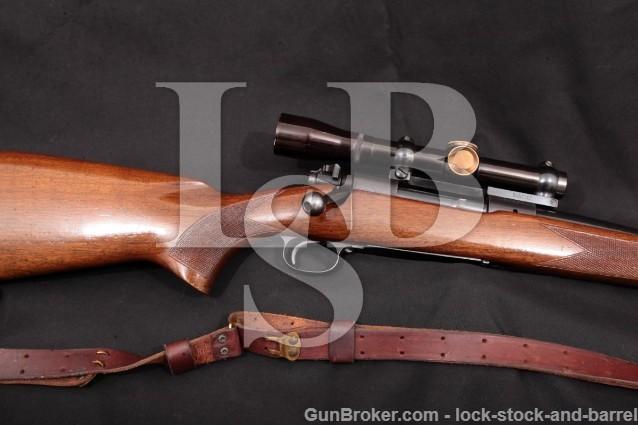 "Winchester Model 70 Alaskan G7035 Pre-64 Rifle C&R Blue 25"" & Leupold M7-3x Scope 1959 .338 Win. mag"