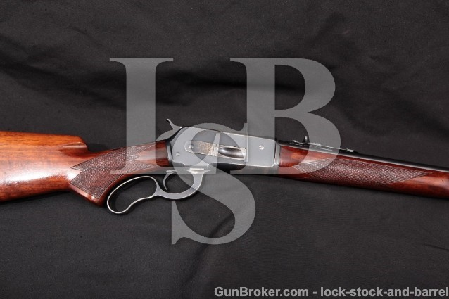 """Winchester Model 71 24"""" .348 Win. Rifle, MFD 1939 Blue 24"""" Round Lever Action Rifle (Like 1886) C&R"""