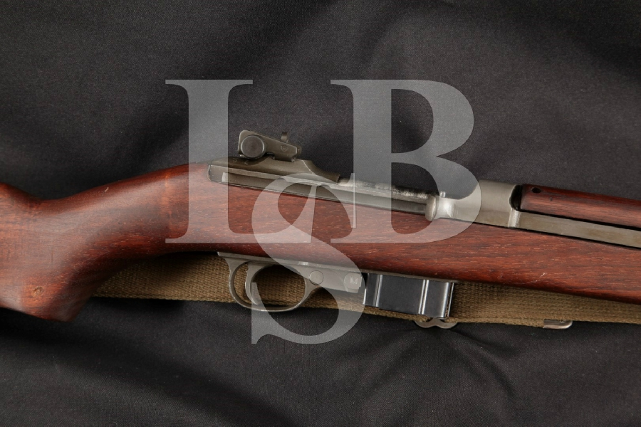 """Winchester Model M1 Carbine & Sling, Parts Matching, Non-Import, Parkerized 18"""" WWII Semi Automatic Rifle, MFD 1943-1944 C&R"""