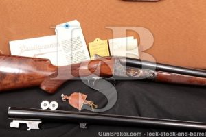 "Winchester Parker Reproduction DHE DH-E 20 Gauge Show Gun Two Barrel Set 26"" & 28"" With Case 20 Ga"