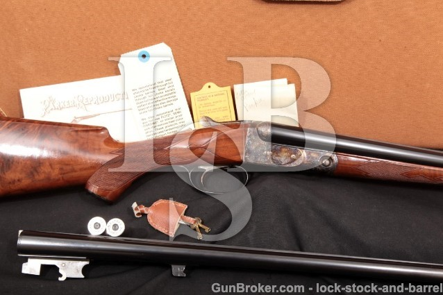 "Winchester Parker Reproduction DHE DH-E 20 Gauge Show Gun Two Barrel Set 26"" & 28"" With Case 20 Ga"