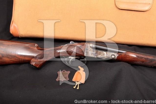 """Winchester Parker Reproduction DHE DH-E 28 Gauge Blue 28"""" SXS Side-by-Side Double Shotgun & Case"""