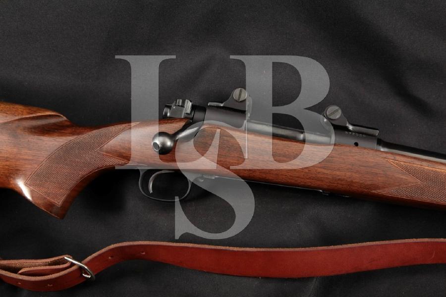 "Winchester Pre-64 Model 70 Featherweight & B&L Scope Mounts, Blue 22"" Bolt Action Internal Magazine Rifle, MFD 1956 C&R"