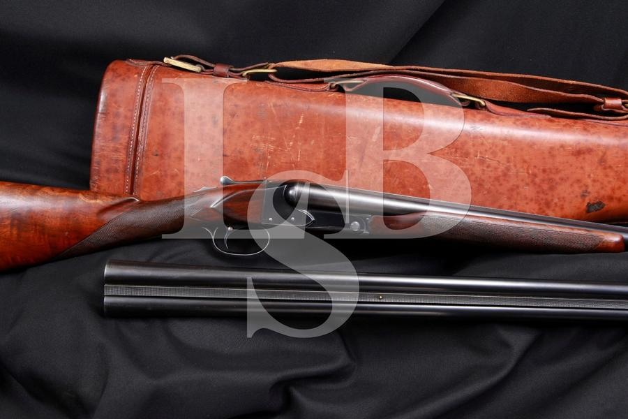 Winchester Repeating Arms Co. Model 21 Shotgun 2 Barrel Set & Mutton Leg Case