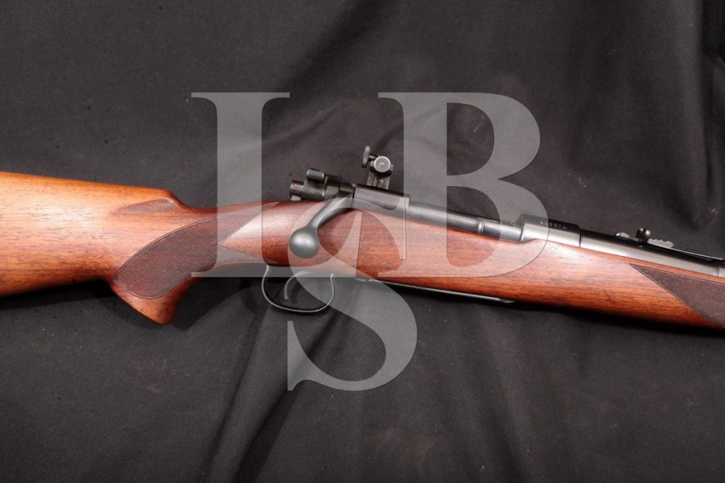 "Winchester Repeating Arms Company Model 54 Improved Sporter, Blue 24"" Bolt-Action Rifle, Lyman Peep Sight, MFD 1934 C&R .22 Hornet"