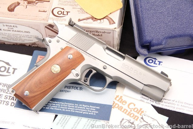 Stainless Colt .45 ACP 1911 Gold Cup Commander Rare Custom Edition Semi Auto Pistol - In The Box