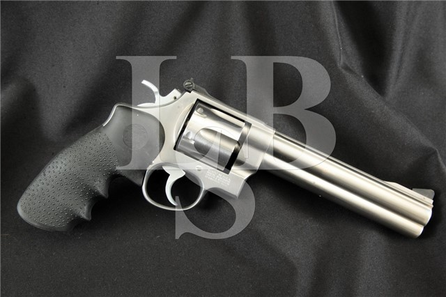 Smith & Wesson S&W Model 610 10mm Stainless 6.5″ SA/DA Double Action Revolver, MFD 1989-2004